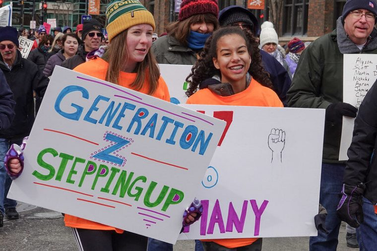 Gen Z is a protest/rally