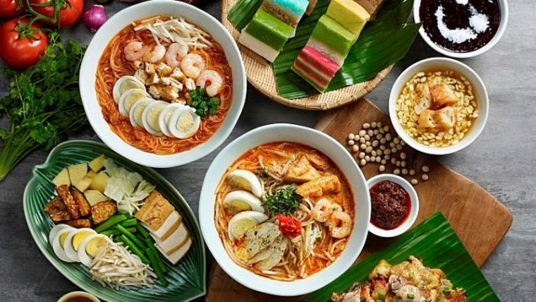 An array of Malaysian dishes