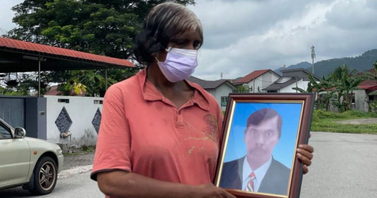 security guard's widow grieving her husband's death