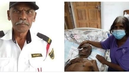 Thava before and after being attacked