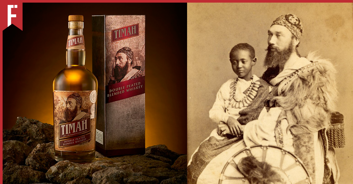 malaysian whiskey brand Timah features Caption Speedy on it's packaging